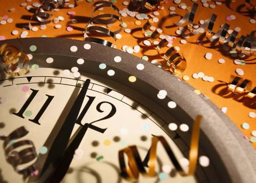 Nochevieja reloj