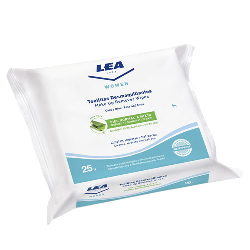 MAKE UP REMOVER WIPES WITH ALOE LEA WOMEN